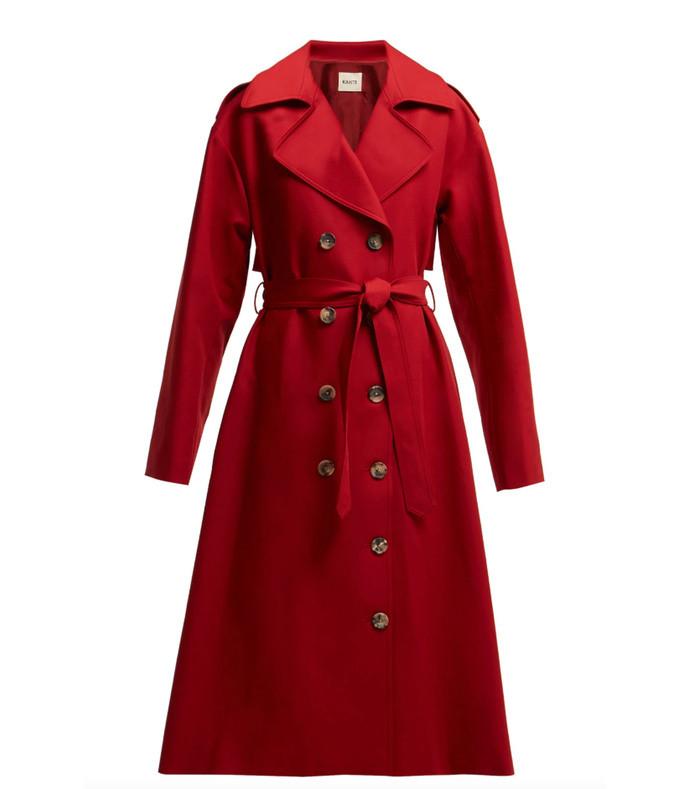 lauren cotton twill trench coat