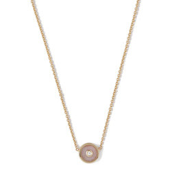 compass 18kt gold & diamond necklace