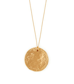 il leone 24kt gold plated necklace