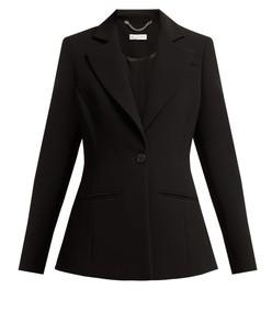 acacia single breasted crepe blazer
