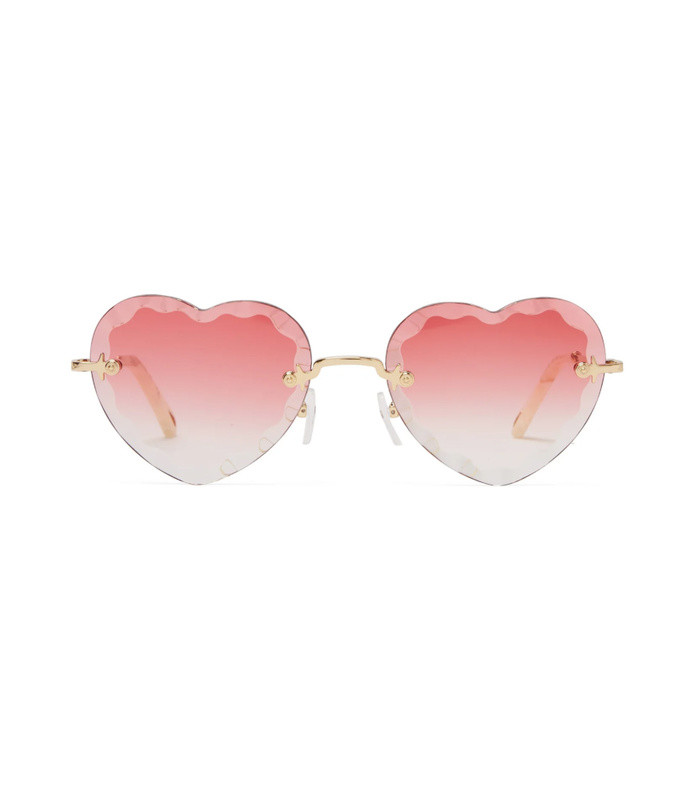 eac8c6fee6ec Chloé. Rosie Heart Shaped Sunglasses