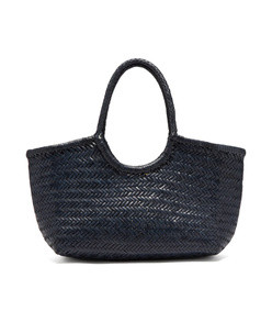 nantucket woven leather basket bag