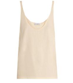 skinny strap cotton jersey vest