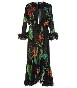 nambia silk crepe dress