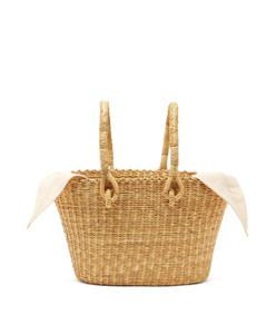 claudia mini straw basket bag