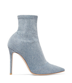 elite 105 stretch-denim sock boots