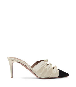 mondaine 75 two-tone knotted faille mules