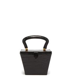 sadie crocodile effect leather bag