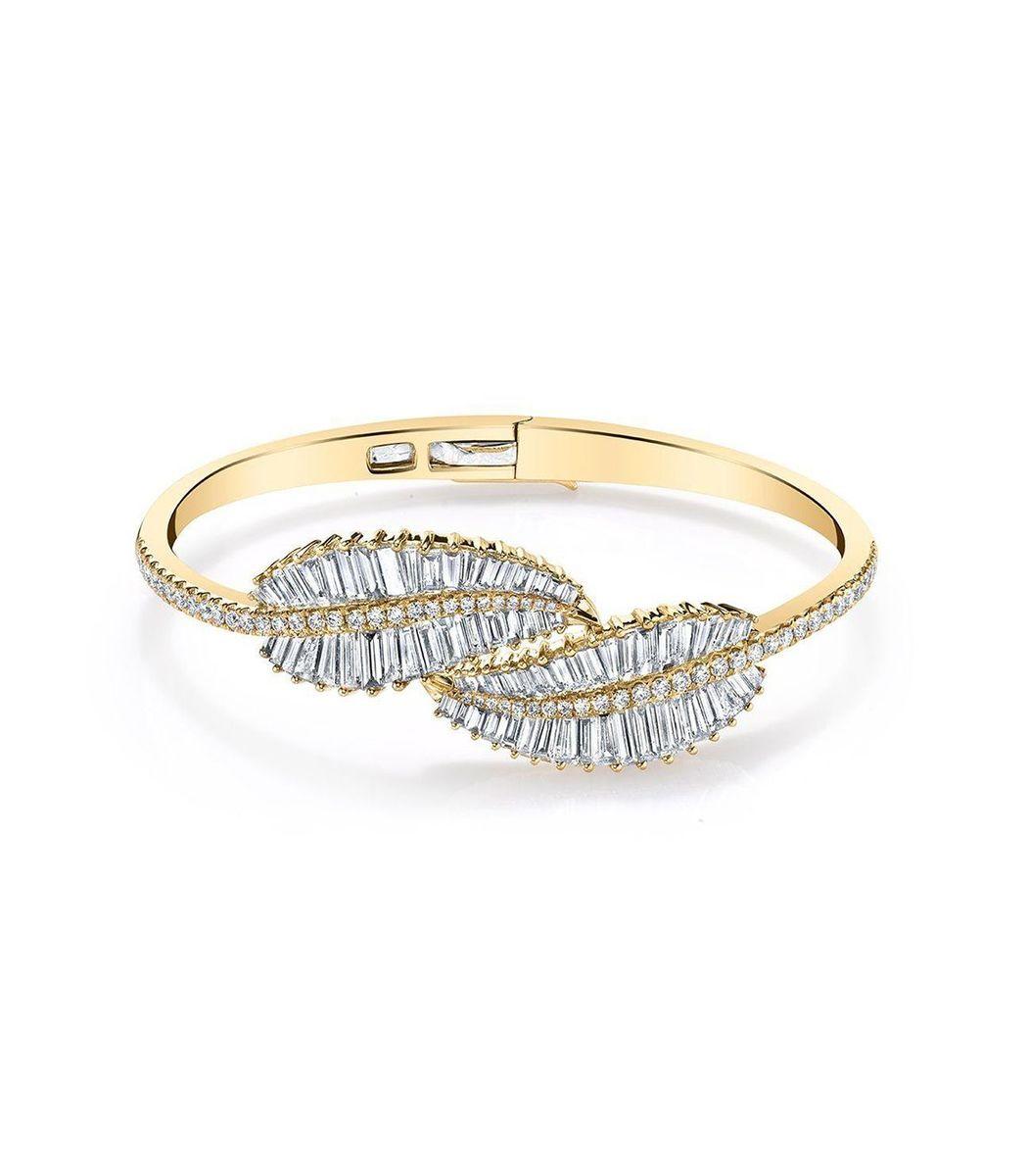 Anita Ko 18k Yellow Gold Small Palm Leaf Ring