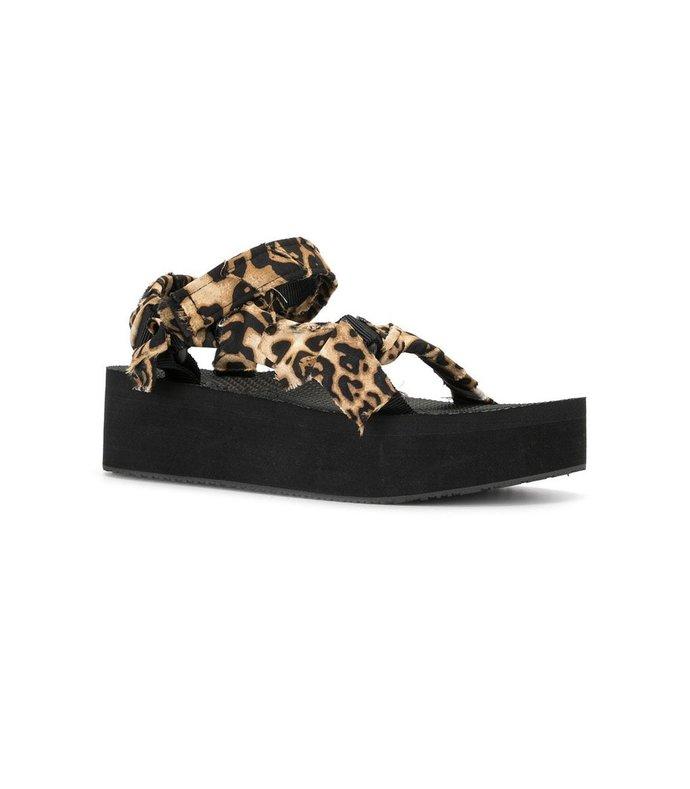 trekky platform satin ankle sandal