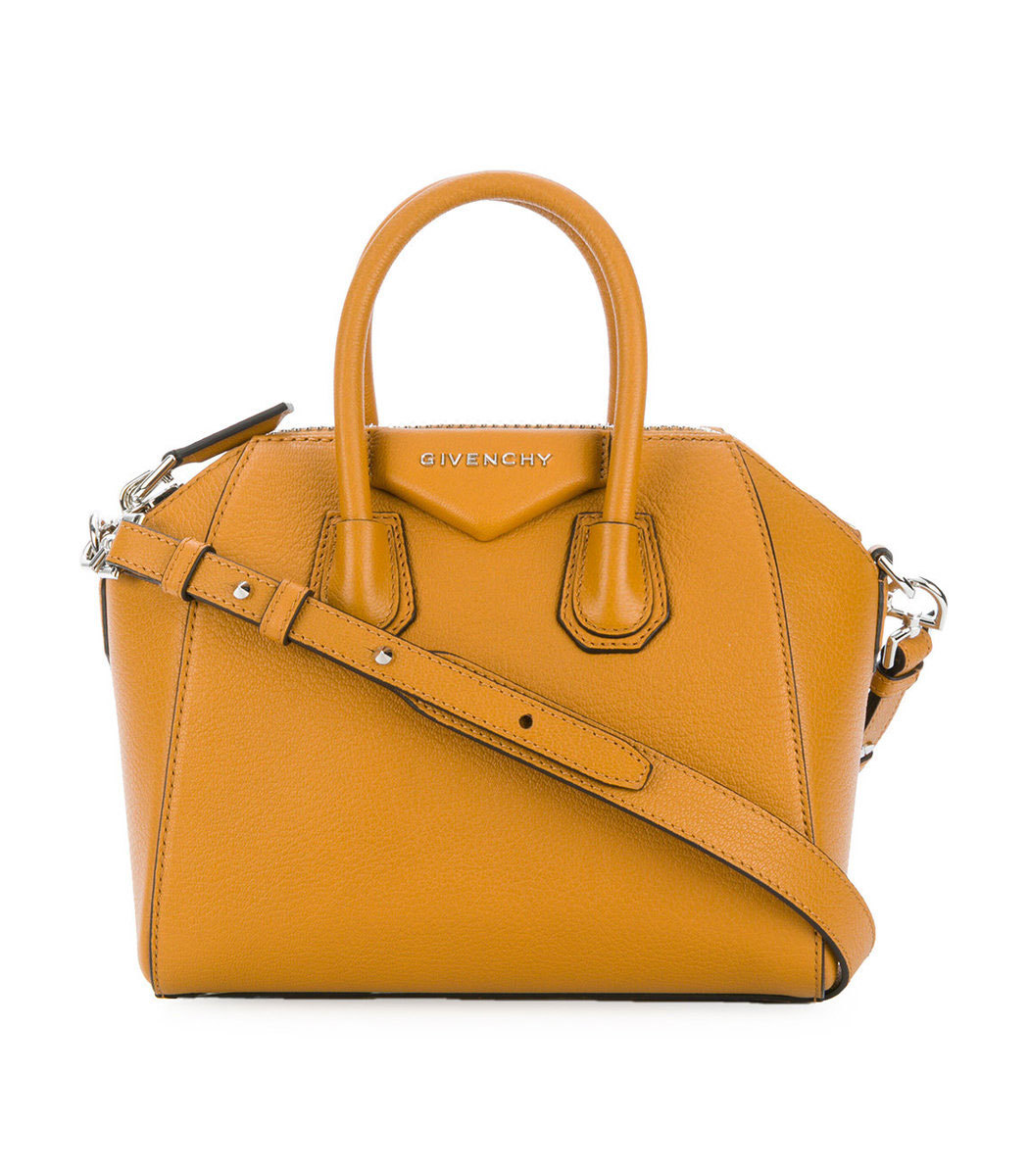 Yellow Small Antigona Tote Bag by Shop Bazaar