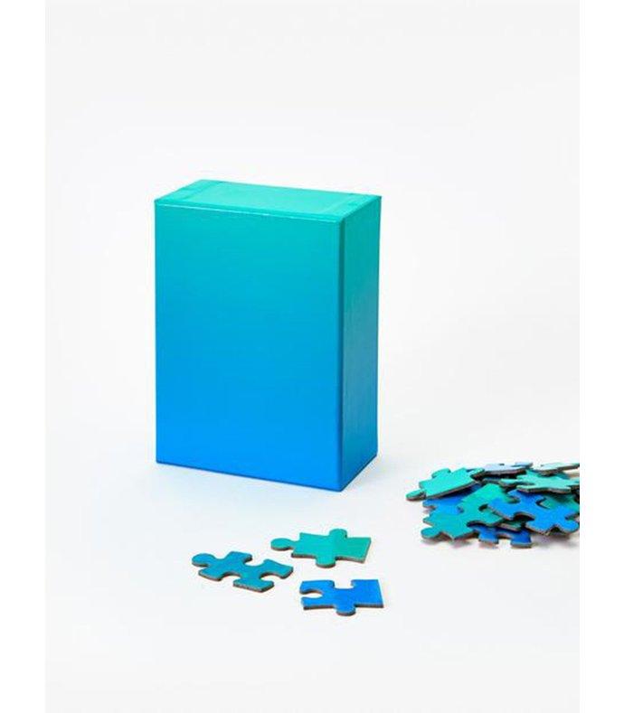 blue green gradient puzzle