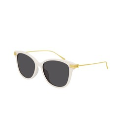 cat eye gold-tone sunglasses