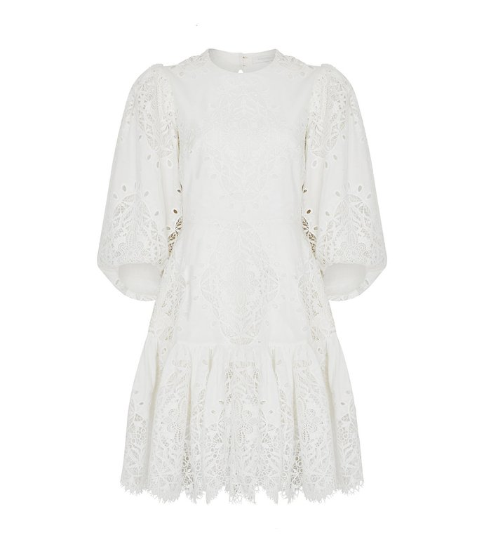 tabitha eyelet puff sleeve dress