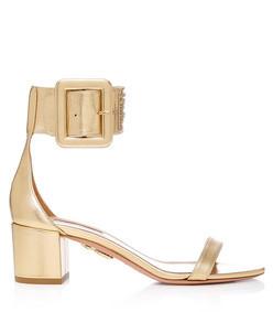 casablanca metallic leather sandals