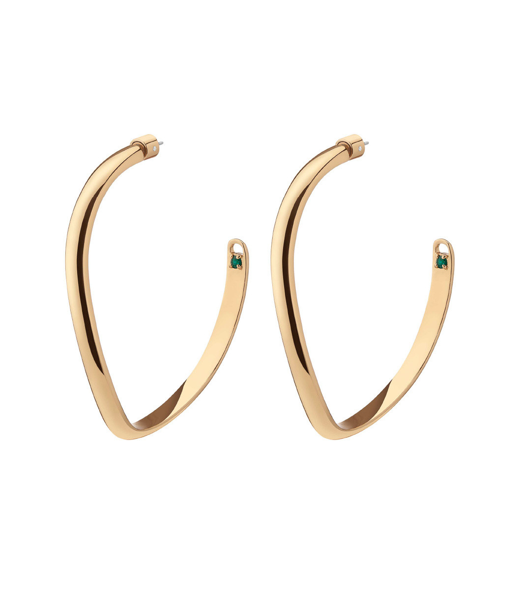 Demarson Calypso Curve Hoop Earrings