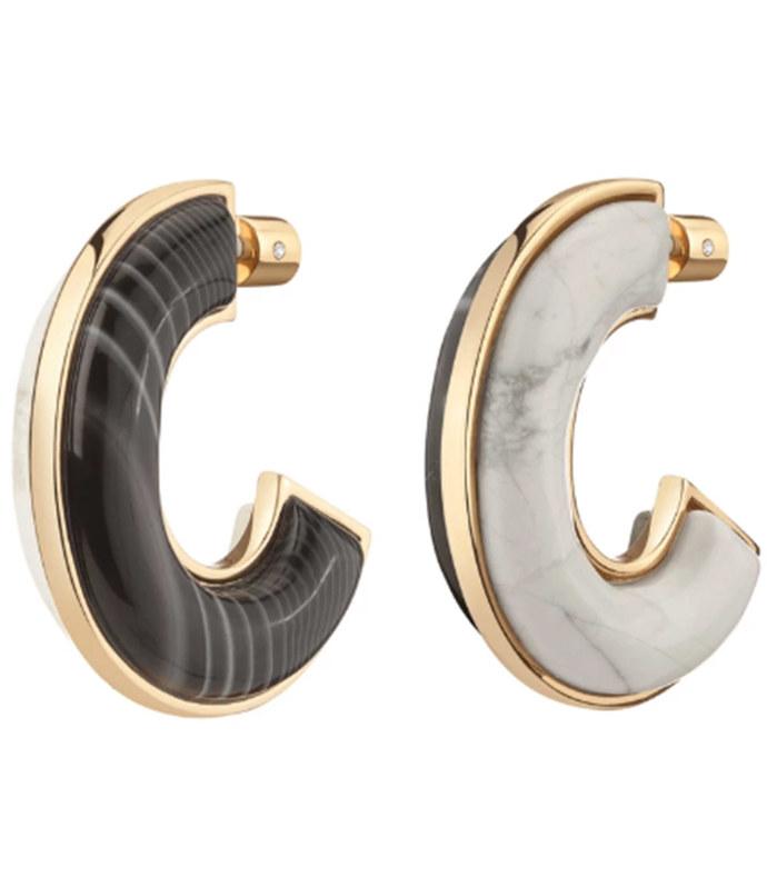 bianca two-tone earrings