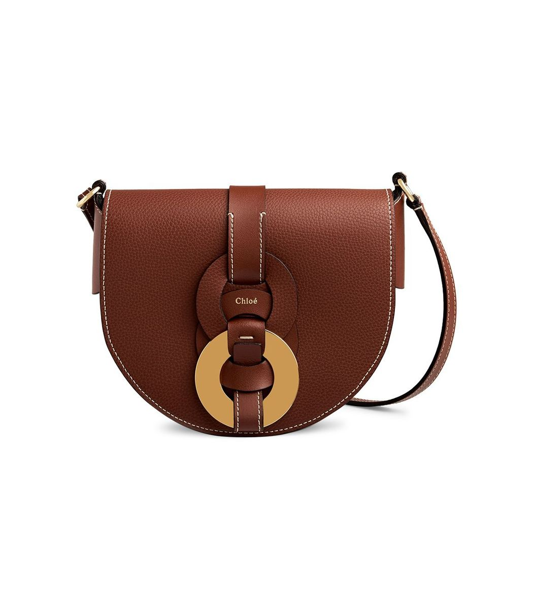 Chloé Small Darryl Saddle Bag, Sepia Brown