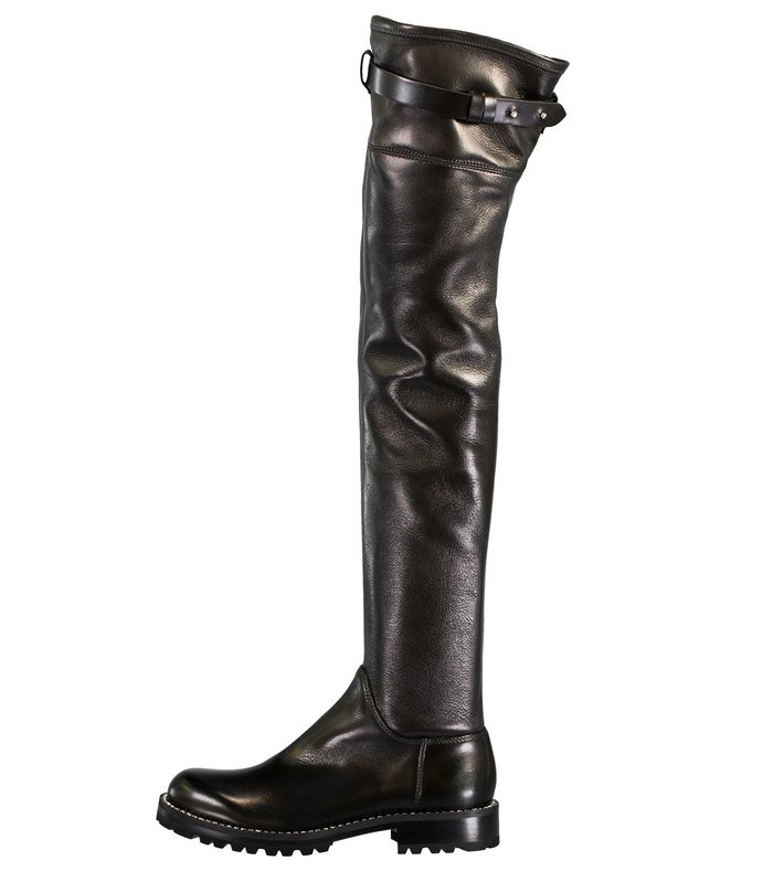 over the knee crystal trim boot