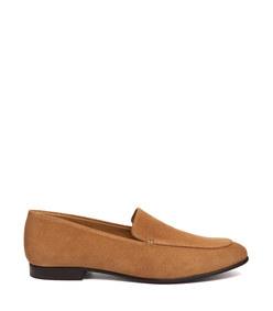 emi venetian loafer in camel suede