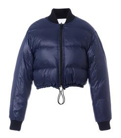 navy gus cropped reversible jacket