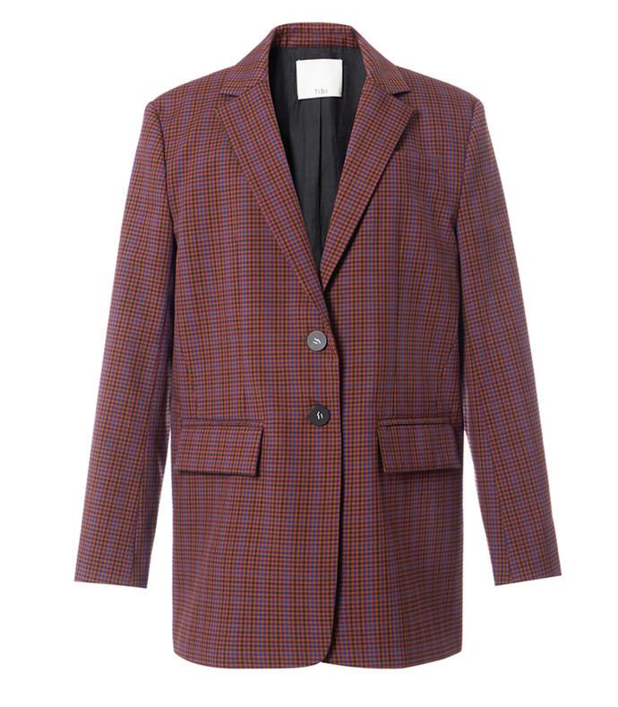 menswear check oversized blazer