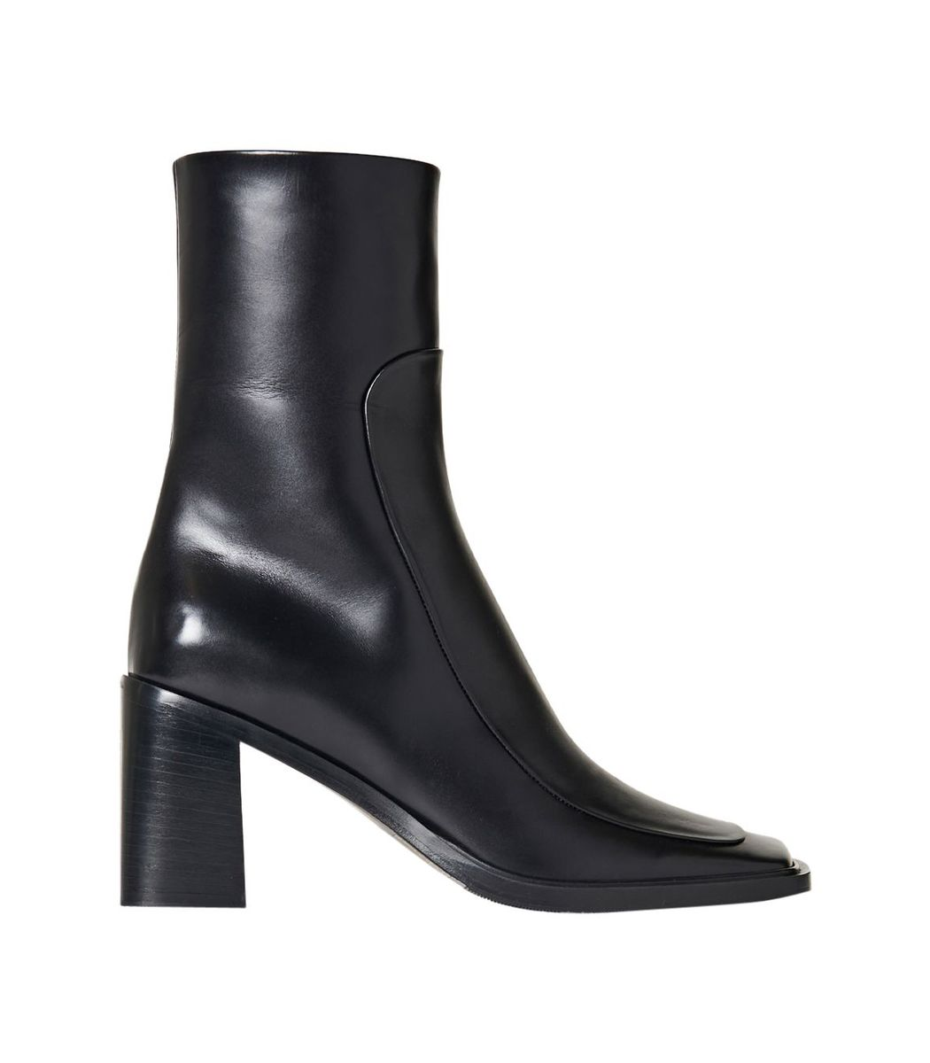The Row Patch Ankle Boot, Black