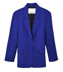 electric blue tailored blazer