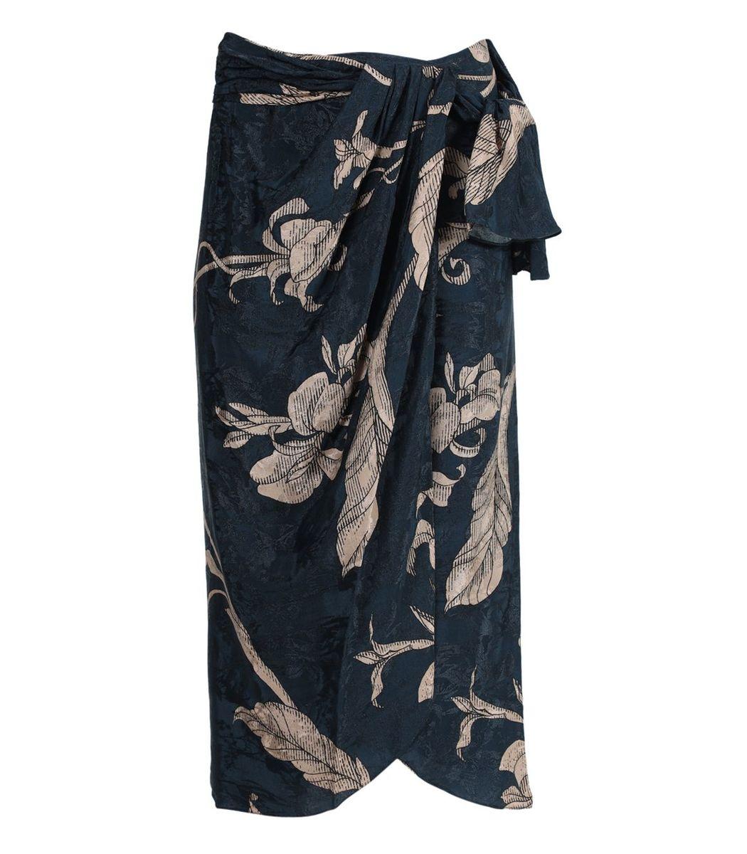 Johanna Ortiz Tide Of Love Wrap Skirt, Blue
