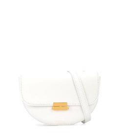 white anna buckle belt bag