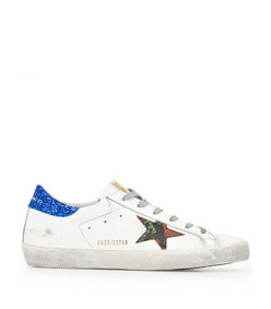 superstar blue glitter sneaker