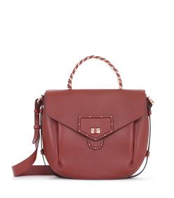 leather medium aella shoulder bag