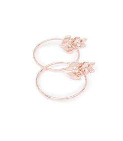 chain detail aella hoop earrings