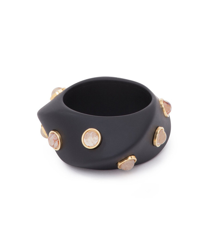 resin, cabochon detail large darda bracelet