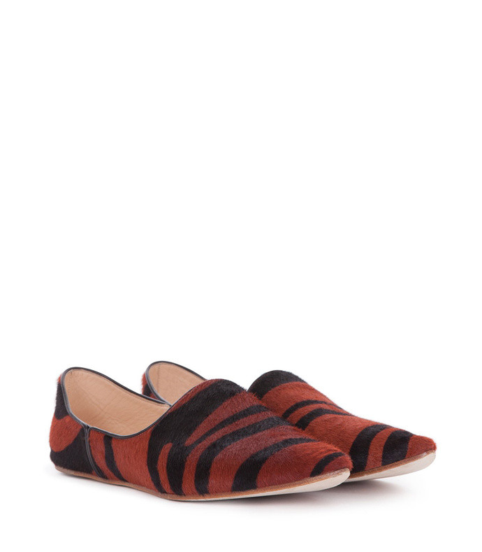pony skin animal print babus low shoes