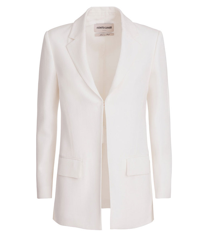 deconstructed silk jacket