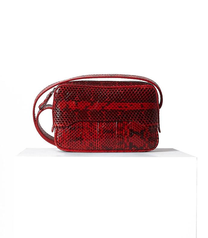 red multicolor myriam schaefer bébé bag