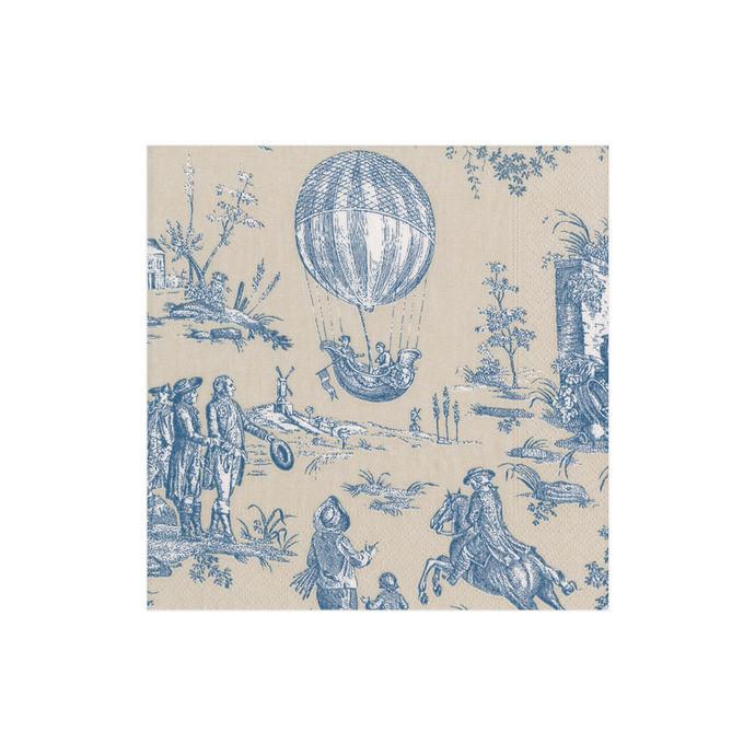 montgolfiere toile cocktail napkins
