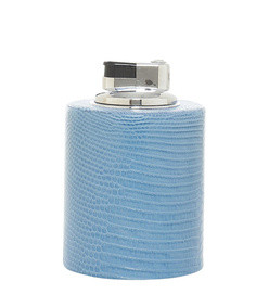 blue cylinder table lighter