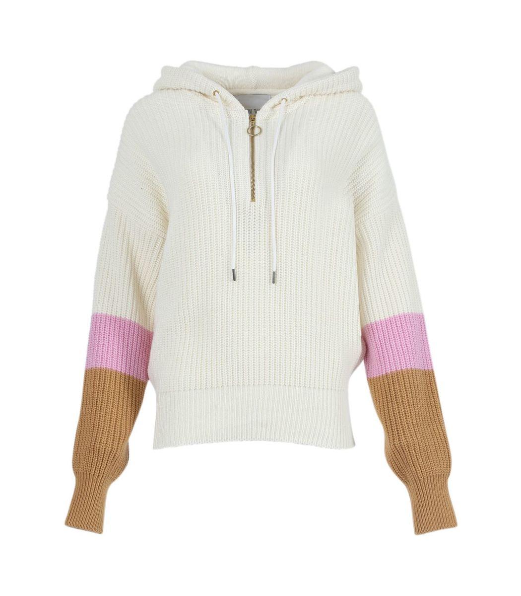 Valentine Witmeur Leathers Off-white Hoodist Half-zip Hoodie