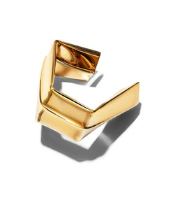 light gold large square bracelet