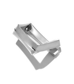 rhodium medium square bracelet