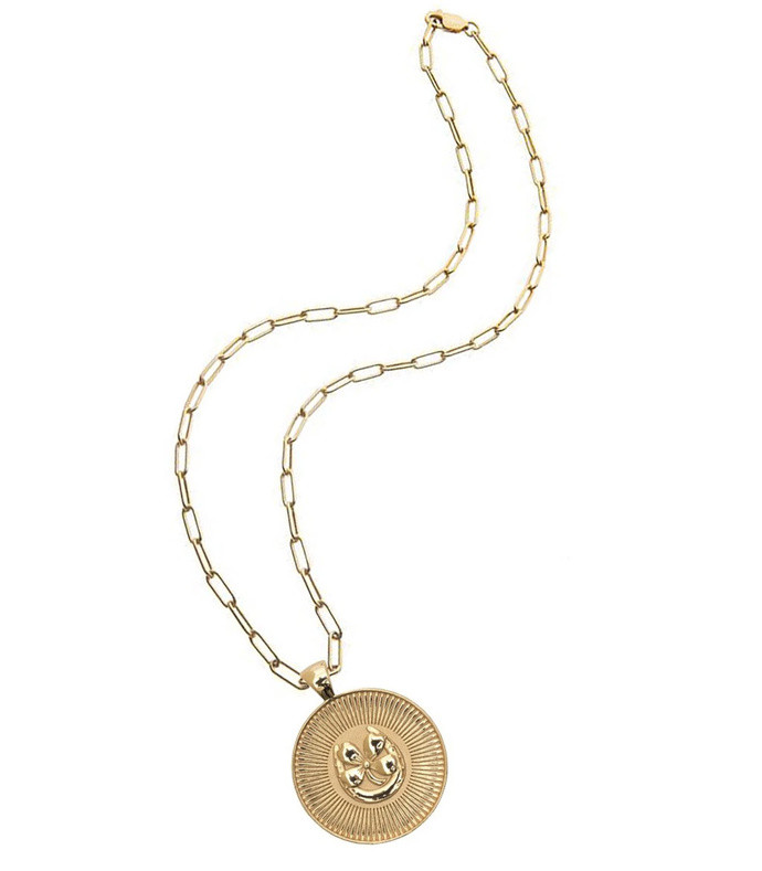 lucky coin 18'' drawn link chain