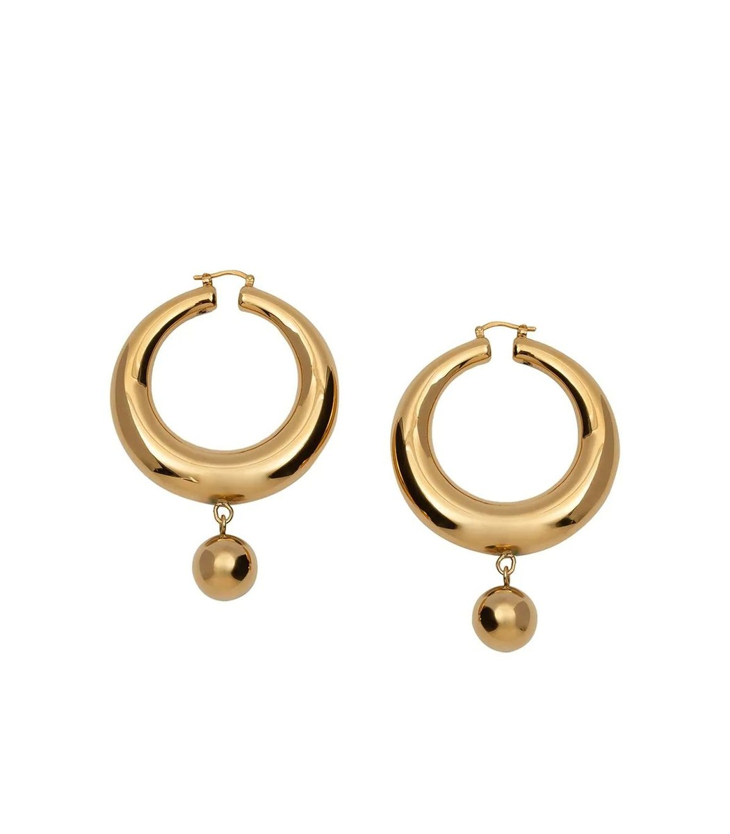 Jw Anderson Gold-tone Eco Brass Hoop Earrings