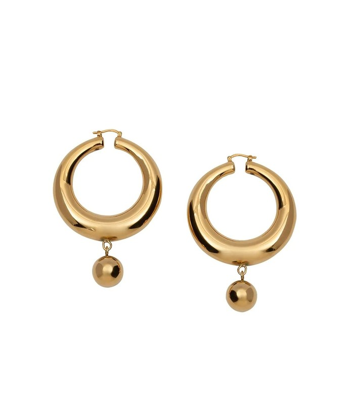 gold-tone eco brass hoop earrings
