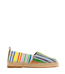 striped canvas espadrille