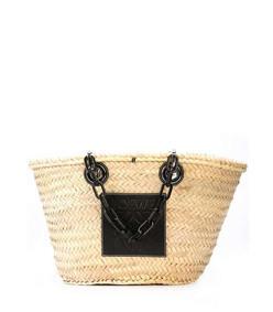 basket chain handle tote bag