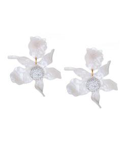 pearl crystal 'lily' earrings