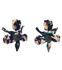 twilight crystal lily earrings