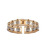gold crystal hinged slider bracelet